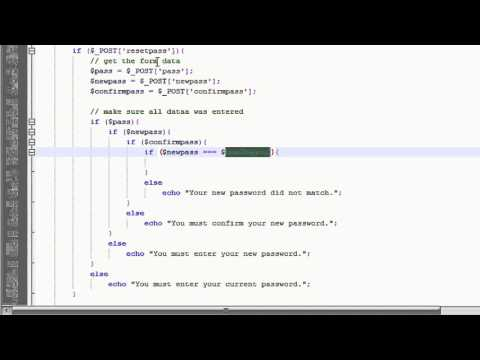 PHP Tutorial: Make a Member System // Reset Password (1/2)