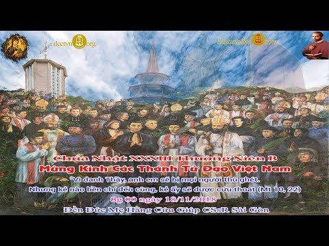 Trực tiếp: Thánh lễ Chúa Nhật XXXII Thường Niên B - Các Thánh Tử Đạo Việt Nam 8g 00 - Đền Đức Mẹ Hằng Cứu Giúp DCCT Sài Gòn
