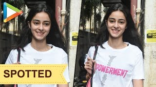 SPOTTED: Ananya Pandey at her dance class - HUNGAMA