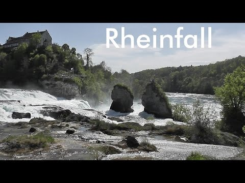 SWITZERLAND: Rhine Falls - waterfall near Schaffhausen [HD]