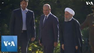 Iranian President Rouhani welcomes Iraqi President Salih to Tehran - VOAVIDEO