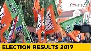 Celebrations Begin At BJP Headquarters In Delhi - NDTVINDIA