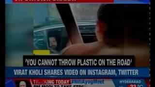 Anushka Sharma stops man from littering streets; Virat Kohli shares video on Instagram, Twitter - NEWSXLIVE