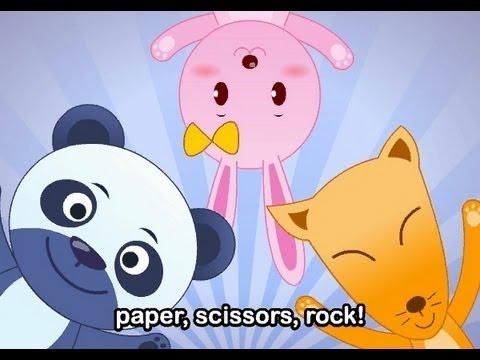 Muffin Songs – Paper, Scissors, Rock  İngilizce Tekerlemeler ve İngilizce Çocuk Şarkılar