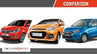 Hyundai Grand i10 Vs Tata Bolt Vs Maruti Celerio   Comparison Video   CarDekho.com