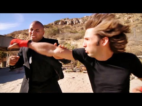 Kickboxing Guy vs Karate Giant | Martial Arts Action Scene