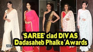 'SAREE' clad DIVAS steals the show | Dadasaheb Phalke Awards 2019 - IANSLIVE