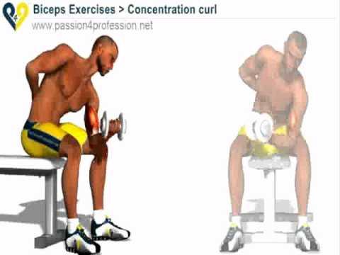 Flexii cu Gantera pe picior - Exercitii pentru biceps - pregatit.com