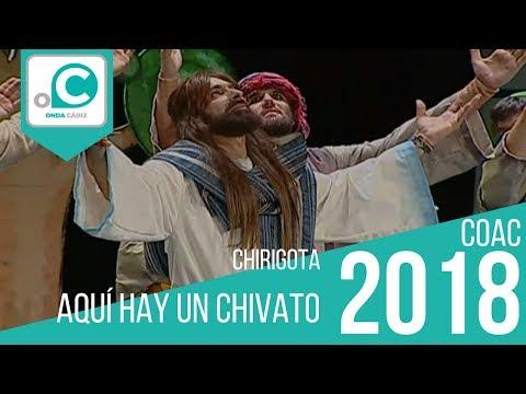 La agrupación Aquí hay un chivato llega al COAC 2018 en la modalidad de Chirigotas. Primera actuación de la agrupación para esta modalidad.