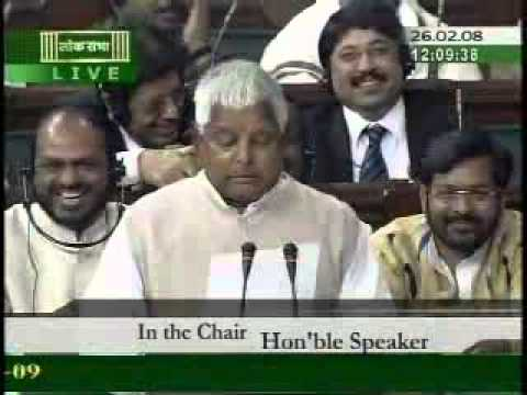 English Translation of Laloo Prasad in Parliament (hilarious)
