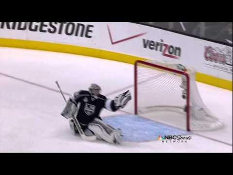 Quick glove save on Sykora. New Jersey Devils vs LA Kings Stanley Cup Game 4 6/6/12 NHL Hockey