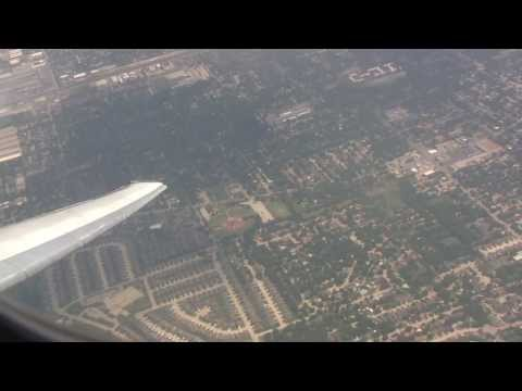 Hazy American Airlines MD-82 Takeoff From Dallas/Fort Worth!