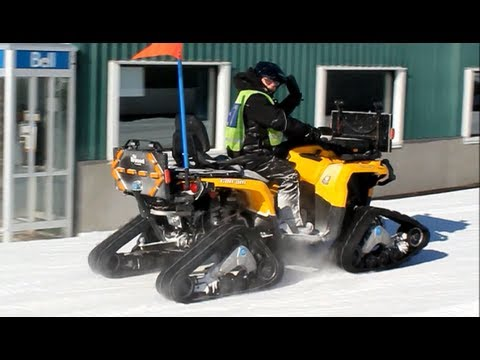 Tracked All terrain vehicles (ATV quad bikes) Camoplast Tatou 4S - winter snow mountain