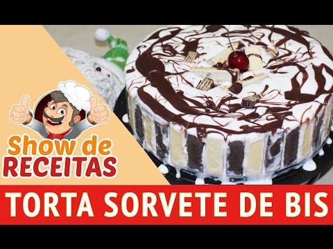 COMO FAZER TORTA SORVETE DE BIS - SHOW DE RECEITAS