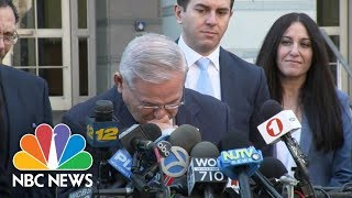 Senator Bob Menendez Briefly Breaks Down Following Mistrial | NBC News - NBCNEWS