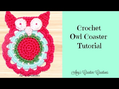 Crochet Owl Coaster Tutorial