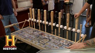 Pawn Stars: Custom Dodgers Autographed Baseball Bench Table (Season 12) | History - HISTORYCHANNEL