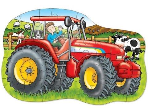 Tractores, dibujos animados infantiles