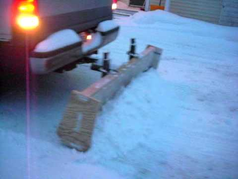 homemade plywood truck plow 2