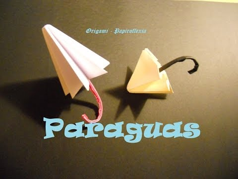 Origami - Papiroflexia. Tutorial: Paraguas, Fácil y rápido