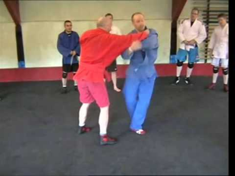 Sambo Technique - Shoulder Throw & Inside Hook Combination