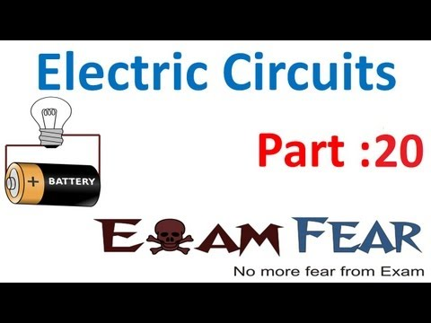 Physics Electric Circuits part 20 (Numericals) CBSE class 12