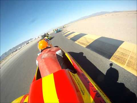 SRA West Sidecars at Chuckwalla Valley Raceway 2012.