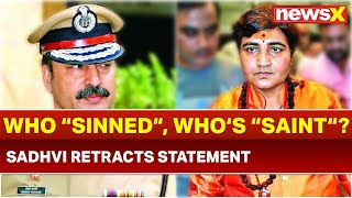 Sadhvi Pragya Thakur Retracts Statement on Former Mumbai ATS Chief Hemant Karkare; 26/11 Martyr - NEWSXLIVE