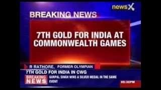 7th gold medal for India at commonwealth games - NEWSXLIVE