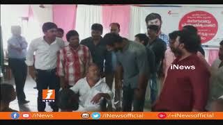 Hero Vishal Visits Vikalangula Ashrama Patasala | Atchutapuram | iNews - INEWS