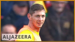 🇬🇧 Cardiff City footballer Sala onboard plane that disappeared | Al Jazeera English - ALJAZEERAENGLISH