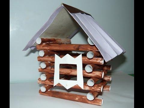 Бумажный домик сделать своими руками