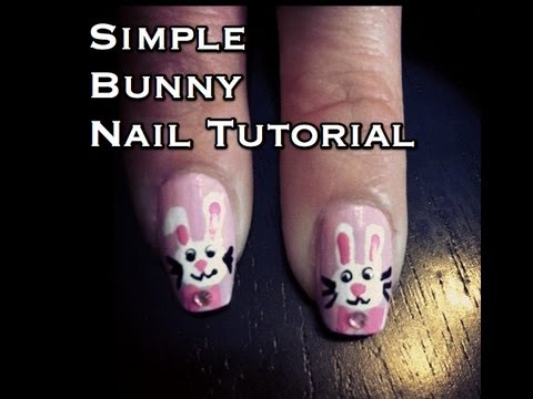 Cute Easter Bunny Rabbit Nail Tutorial