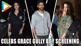 Deepika Padukone, Alia Bhatt, Ranbir Kapoor & others at Screening of 'Gully Boy' | Part 2 - HUNGAMA