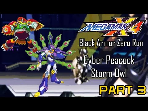 Mega Man X4 - Black Armor Zero Part 03: Cyber Peacock, Storm Owl | Too Much Gaming