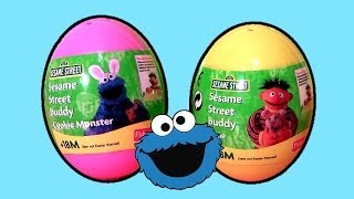 Surprise Eggs Cookie Monster Sesame Street ERNIE Easter Egg Sorpresa Huevos Holiday Edition