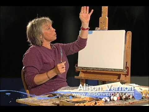 Alison Vernon Palette Knife Painting
