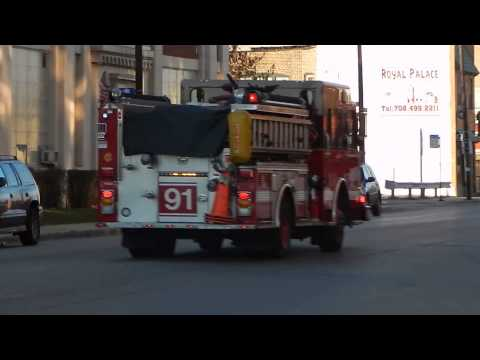 Chicago Fire Department Engine Co. 91 Responding to a Medical Call