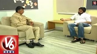 Chandra Babu And  Pawan Kalyan Talking - Byte - V6NEWSTELUGU