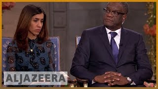 The Nobel Interview: Nadia Murad and Denis Mukwege | News Special - ALJAZEERAENGLISH