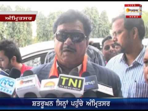 Film Star And BJP Leader Satrughan Sinha In Amritsar
