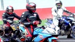 Indian cricket captain MS Dhoni participates in Bike Festival of India - NDTVINDIA