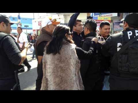 Estatales de Ciudad Victoria reprimen manifestación pro estudiantes de Ayotzinapa