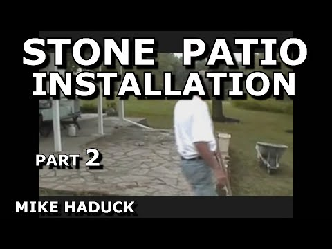 How I install a stone patio (Part 2 of 2) Mike Haduck shows patch -up etc.