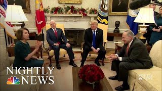 In Public Fight With Schumer, Pelosi, Trump, He'd Be Proud To Shut Down Gov Over | NBC Nightly News - NBCNEWS