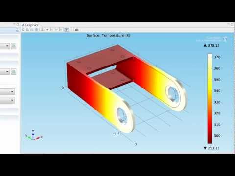 Adding Thermal Stress to a Structural Mechanics Model Tutorial