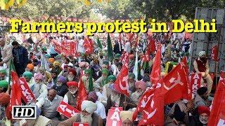 Farmers protest in Delhi - IANSLIVE