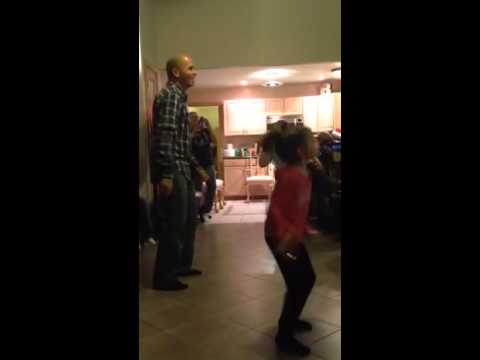 Father daughter 'just dance'n