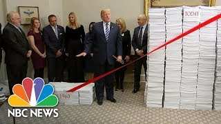 President Donald Trump Touts 'Regulatory Savings' At White House Event | NBC News - NBCNEWS