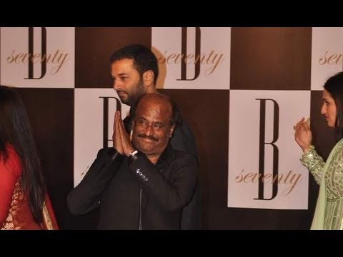Rajinikanth At Amitabh Bachchan's Birthday Celebrations